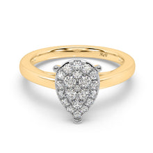 Load image into Gallery viewer, Pear-ablaze Diamond Ring in 14kt Gold with 1/2 CTTW