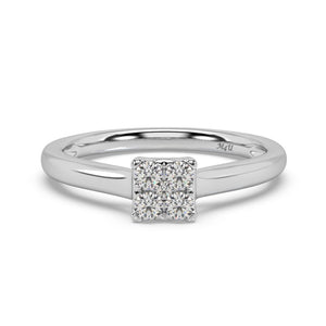 Cubic Glister Diamond Ring in 10kt Gold with 1/4 CTTW