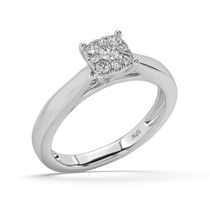 Spangle Cubic Diamond Ring in 10kt Gold with 1/4 CTTW