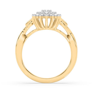 Bedazzle Lab-Grown Diamond Ring in 14kt Gold with 1/2 CTTW