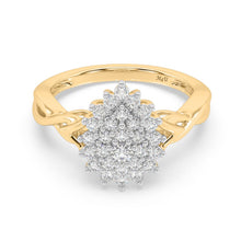 Load image into Gallery viewer, Bedazzle Lab-Grown Diamond Ring in 14kt Gold with 1/2 CTTW