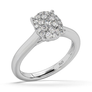 Clustered Glow Lab-Grown Diamond Ring in 14kt Gold with 1/2 CTTW
