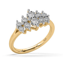 Load image into Gallery viewer, Glitterati Lab-Grown Diamond Ring in 10kt Gold with 1/4 CTTW