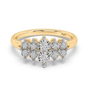 Glitterati Lab-Grown Diamond Ring in 10kt Gold with 1/4 CTTW