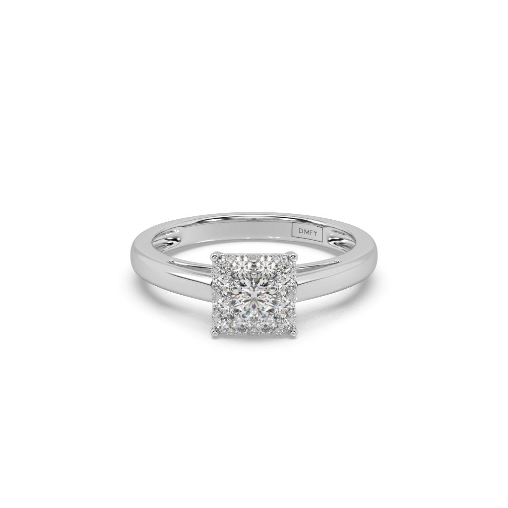 Quadrate Flash Lab-Grown Diamond Ring in 14kt Gold with 1/2 CTTW