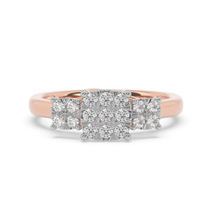 Made for You 14K Rose Gold 1/2 cttw Lab-Grown Diamond Ring