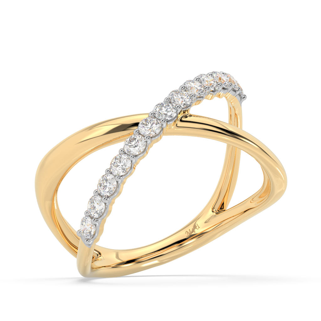Made for You 14K Yellow Gold 1/2 cttw Lab-Grown Diamond Ring