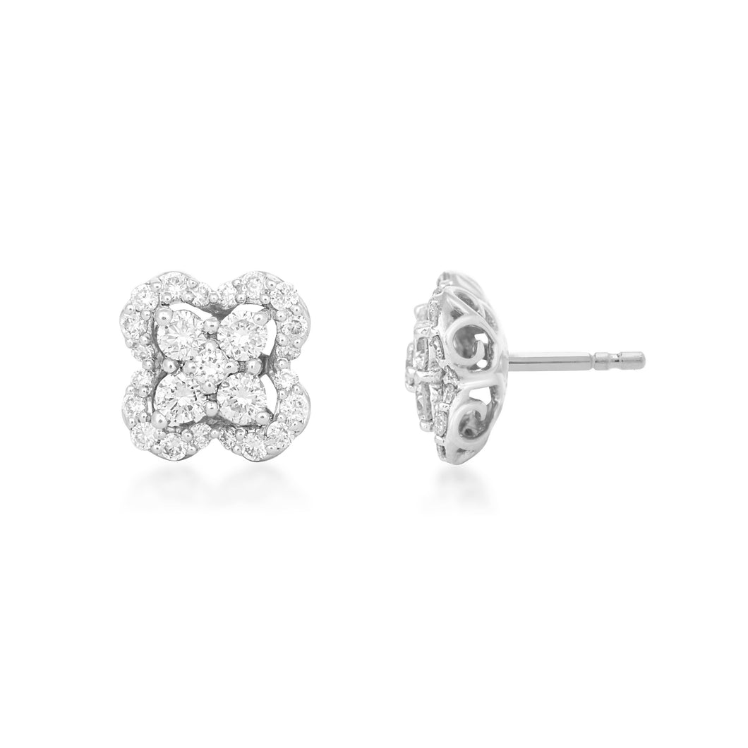 Jeunes Lab-Grown Diamond Earrings in 10K Gold with 1/2 cttw