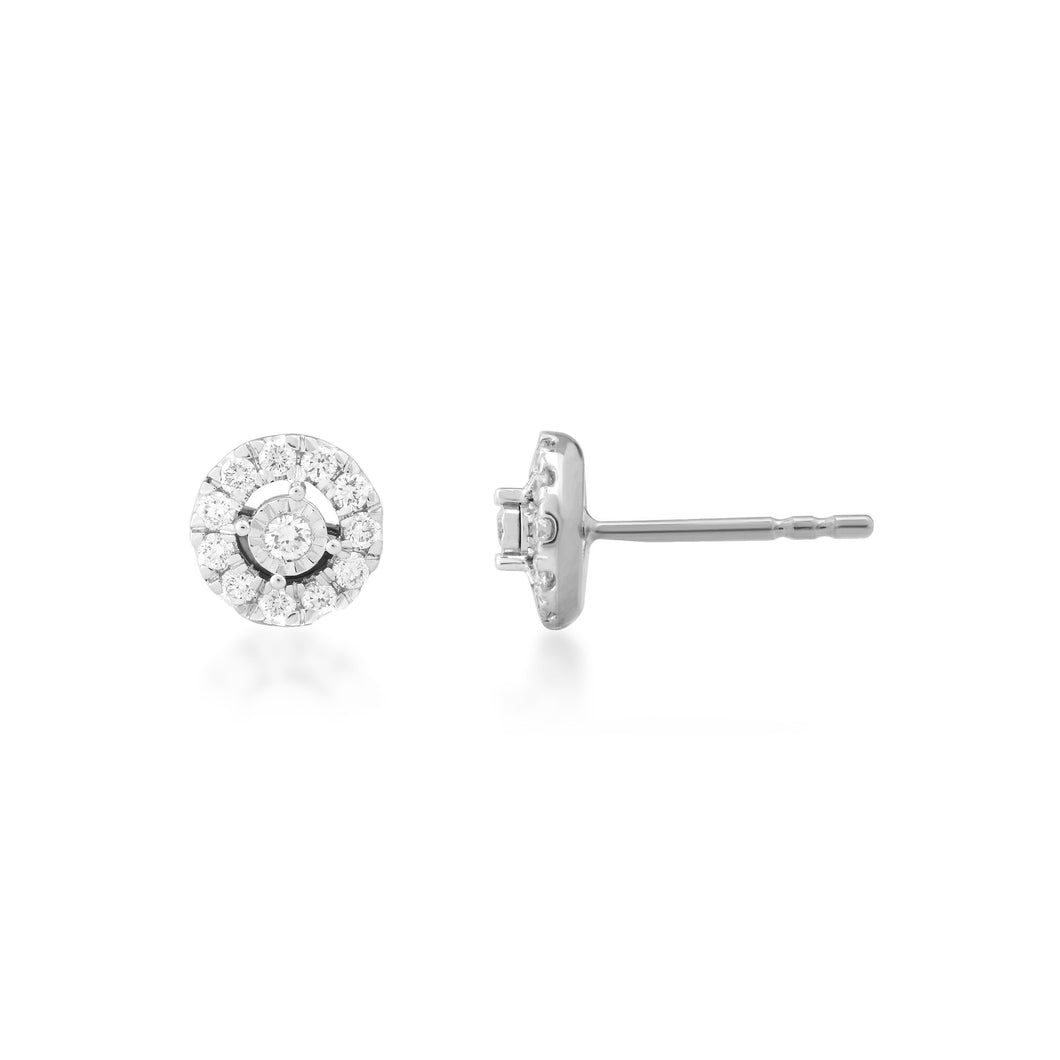 Pointe Lab-Grown Diamond Earrings in 10K Gold with 1/3 cttw