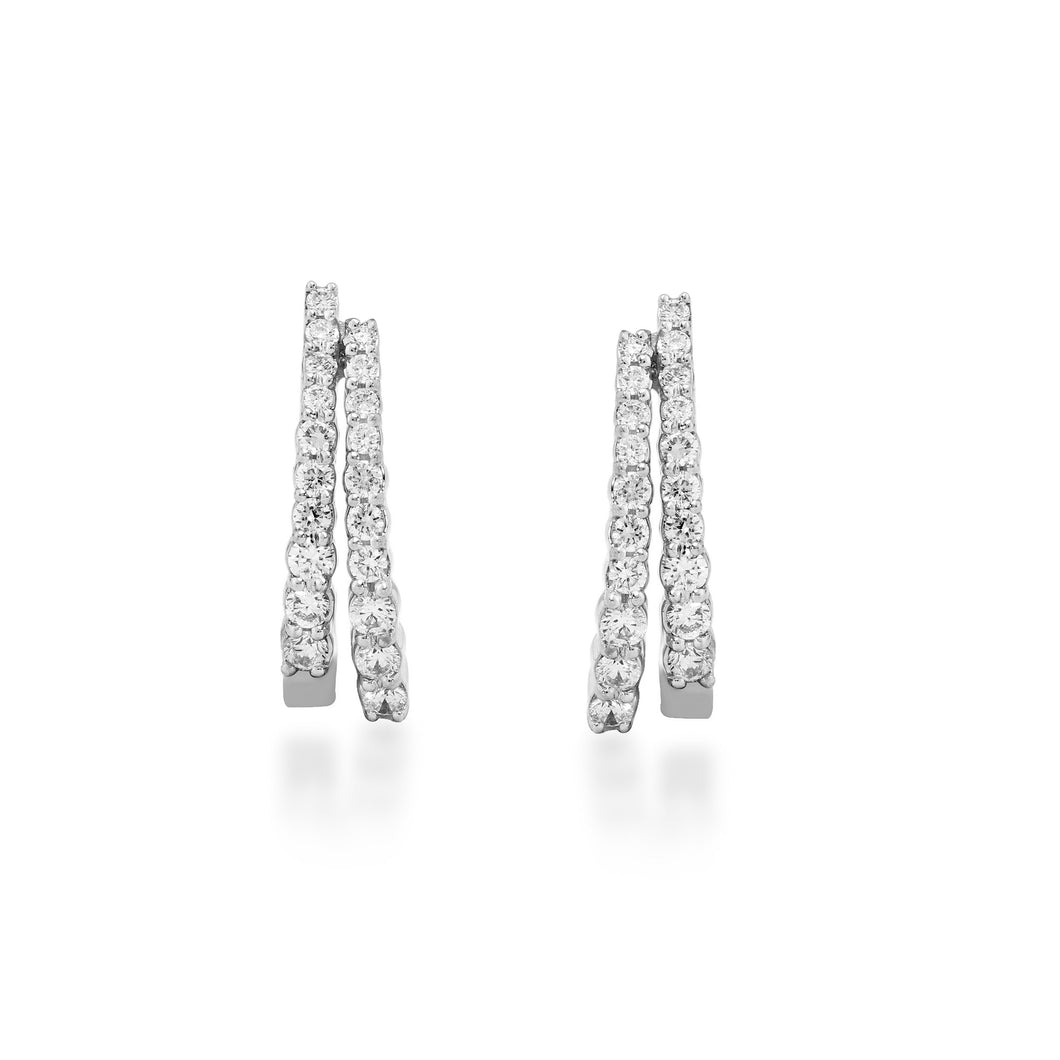 Circled Twice Lab-Grown Diamond Earrings in 14K Gold with 1/3 cttw