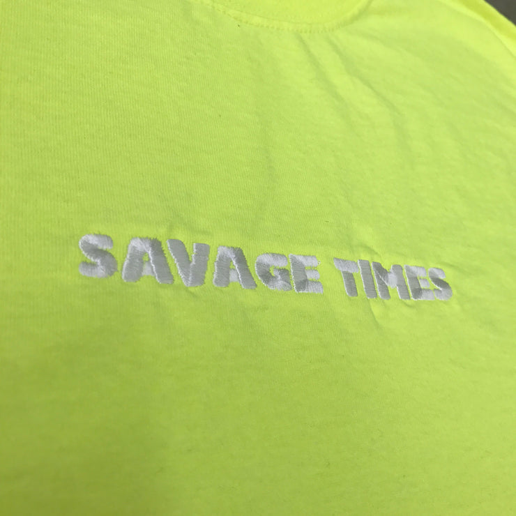 SAVAGE TIMES LS TEE (Safety Green)