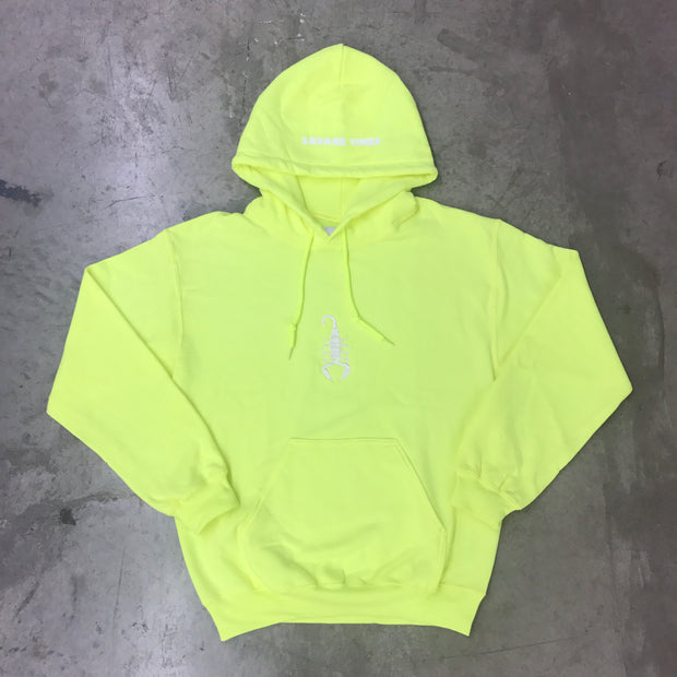 SAVAGE TIMES OVERDYED FLEECE (Safety Green)