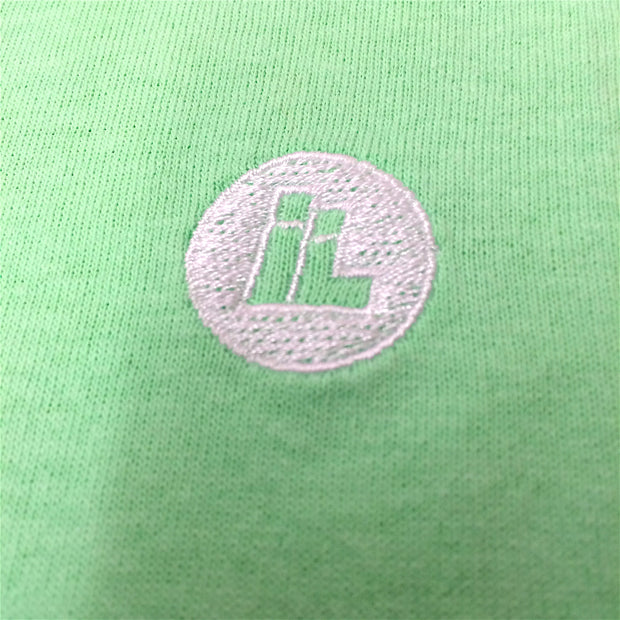 Embroidered IL Dot Logo Tee (Mint Green)