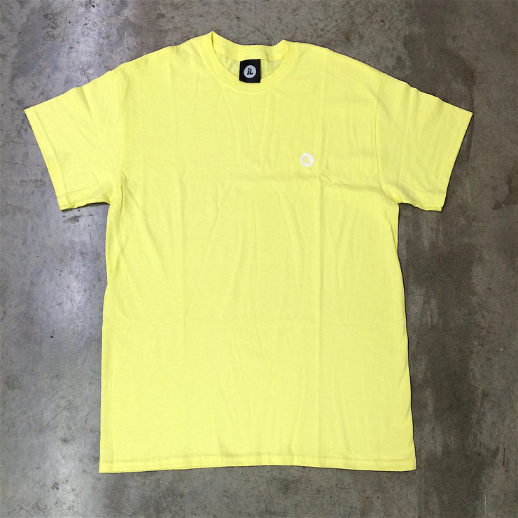 Embroidered IL Dot Logo Tee (Cornsilk Yellow)