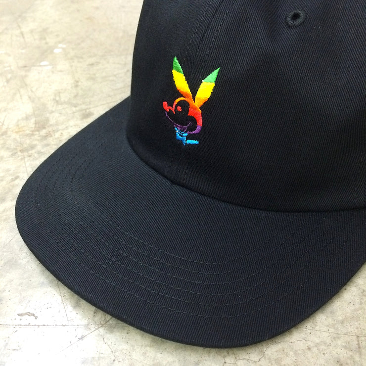 HEK x HUF Hat (Black/Rainbow)