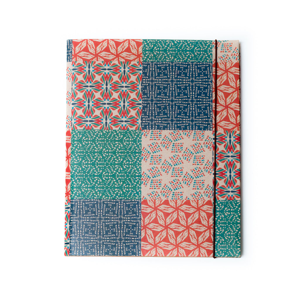 Shell Woodcut Folder Journal