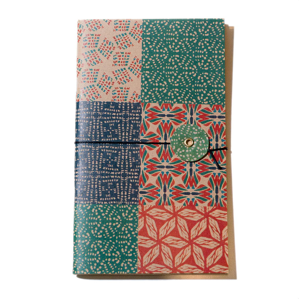 Shell Woodcut String Bound Journal