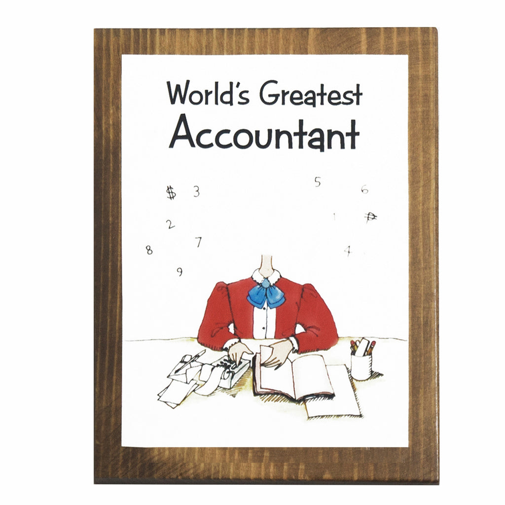 World's Greatest Accountant (Female) Plaque
