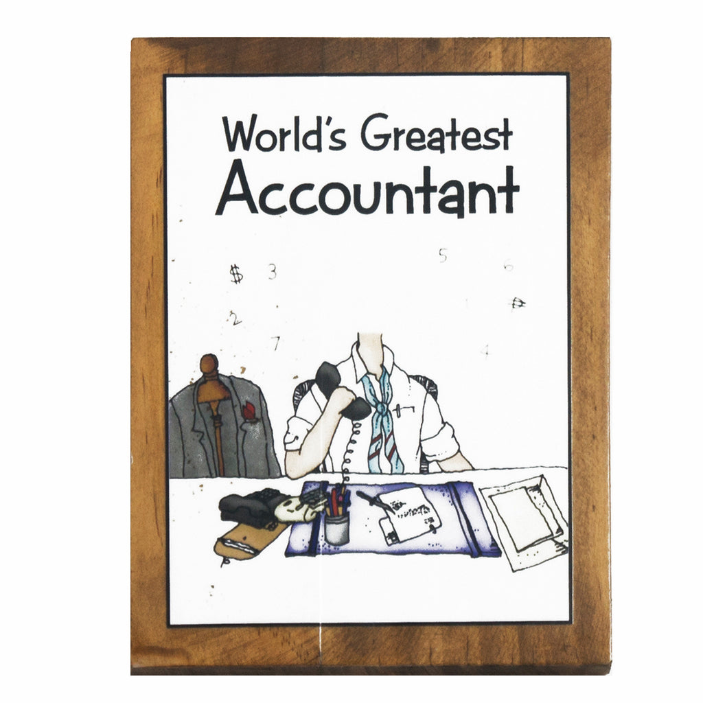 World's Greatest Accountant (Male) Plaque