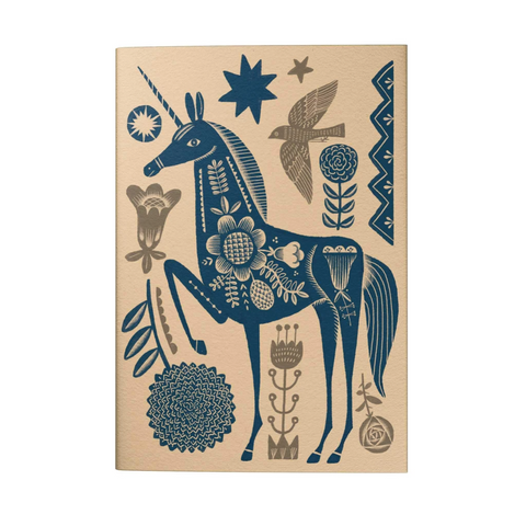 Blue Vintage Unicorn 2021 Pocket Planner