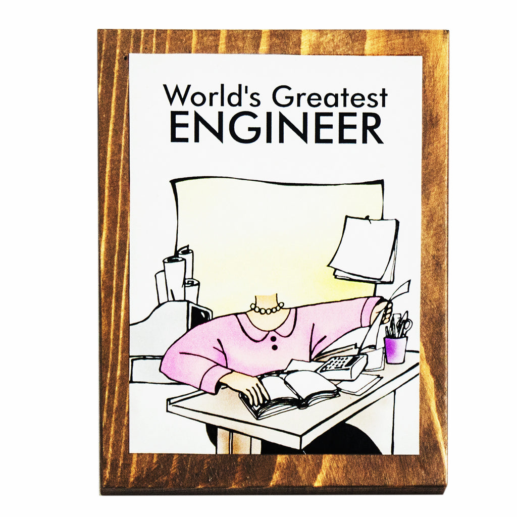 World's Greatest Engineer (Female) Plaque