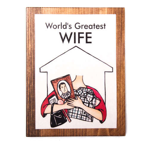 World's Greatest Wife Plaque