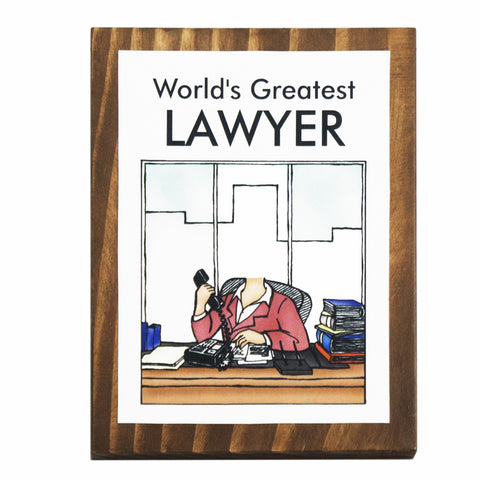 World's Greatest Lawyer (Female) Plaque