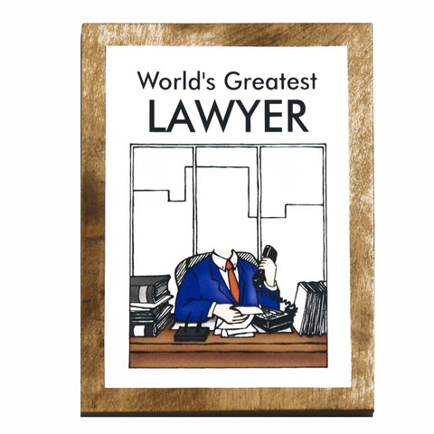 World's Greatest Lawyer (Male) Plaque