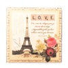 Pictured above is a magnet with a design featuring the Eifel Tower in Paris. This is a unique romantic gift for valentines.
