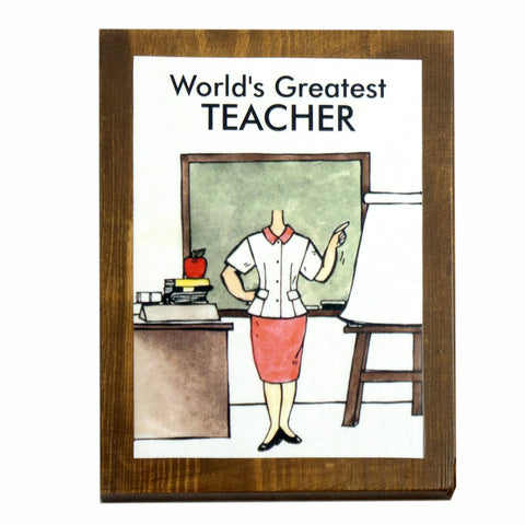 World's Greatest Teacher (Female) Plaque