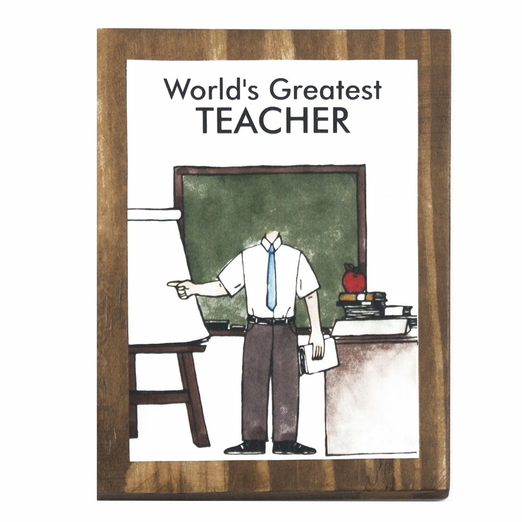 World's Greatest Teacher (Male) Plaque