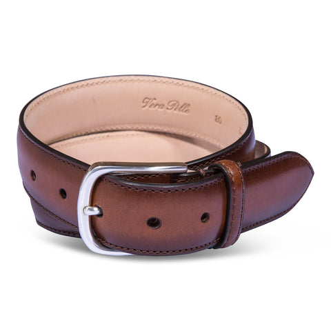 Belt Paolo Vitale Calf Leather Tan