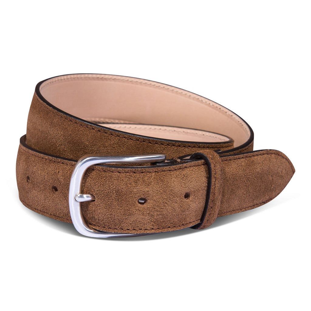 Belt Paolo Vitale Calf Suede Tabacco