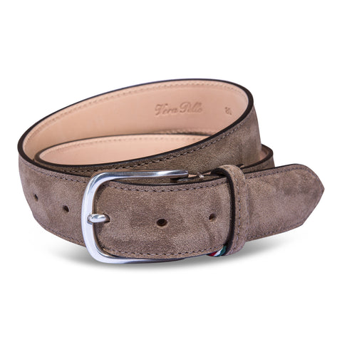 Belt Paolo Vitale Calf Suede Taupe