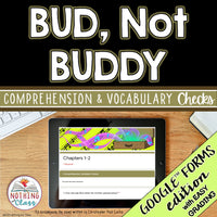 Bud, Not Buddy | Google Forms Edition | Novel Study