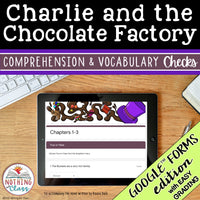 Charlie and the Chocolate Factory | Google Forms Edition | Novel Study
