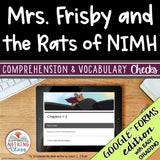 Mrs. Frisby and the Rats of Nimh | Google Forms Edition | Novel Study
