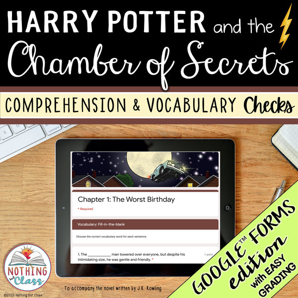Harry Potter and the Chamber of Secrets | Google Forms Edition | Novel Study