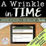 A Wrinkle in Time | Google Forms Edition | Novel Study