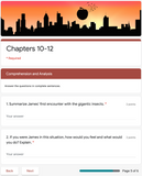 James and the Giant Peach | Google Forms Edition | Novel Study