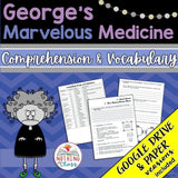 George's Marvelous Medicine: Comprehension and Vocabulary
