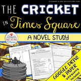 The Cricket in Times Square Novel Study Unit