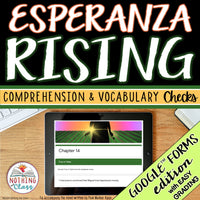 Esperanza Rising | Google Forms Edition | Novel Study