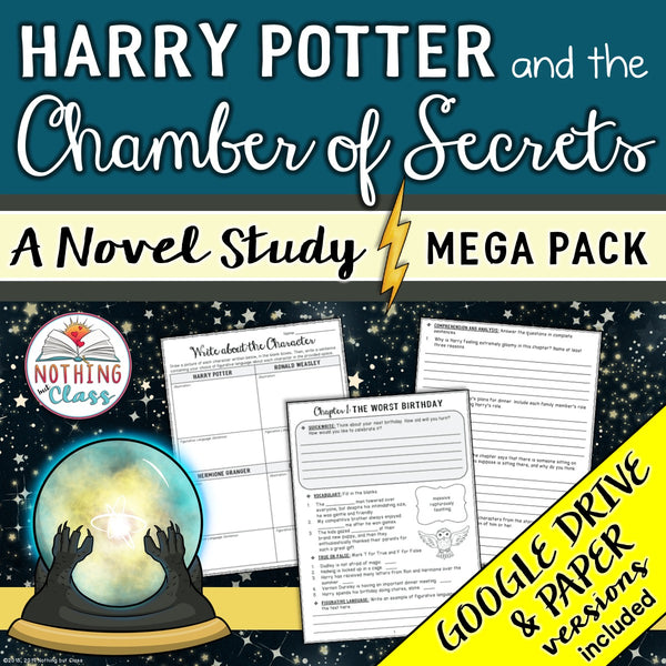 Harry Potter and the Chamber of Secrets Novel Study MEGA Pack