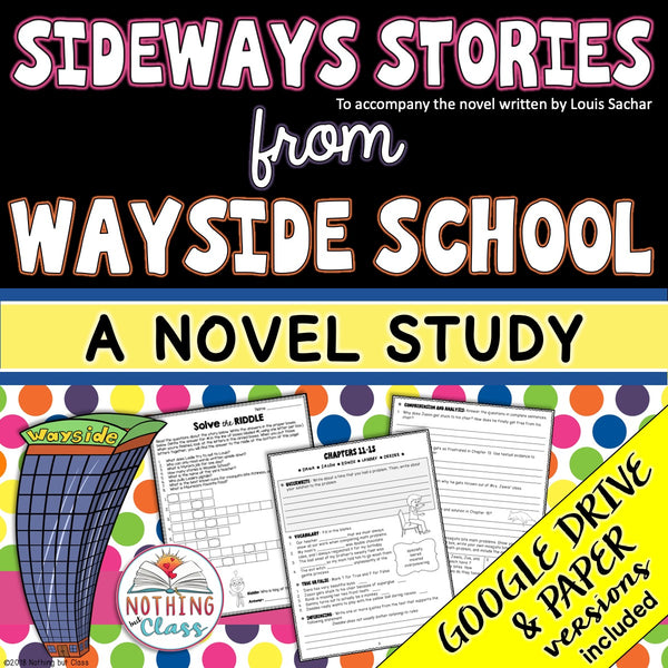 Sideways Stories from Wayside School Novel Study