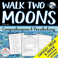 Walk Two Moons: Comprehension and Vocabulary