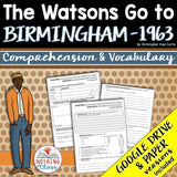 The Watsons Go to Birmingham-1963: Comprehension and Vocabulary