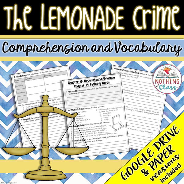 The Lemonade Crime: Comprehension and Vocabulary