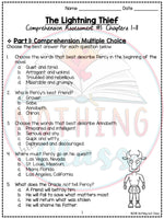 The Lightning Thief: Tests, Quizzes, Assessments