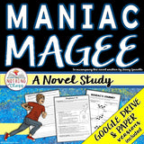 Maniac Magee Complete Novel Study Unit